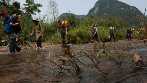 Jungle trek to Hang Son Doong cave.