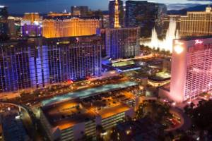 The standoff began after a shooting was reported on Las Vegas Boulevard.