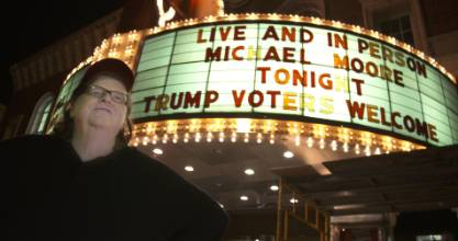 Michael Moore isn't confrontational in his latest documentary.  If anything he's understanding of Trump voters.