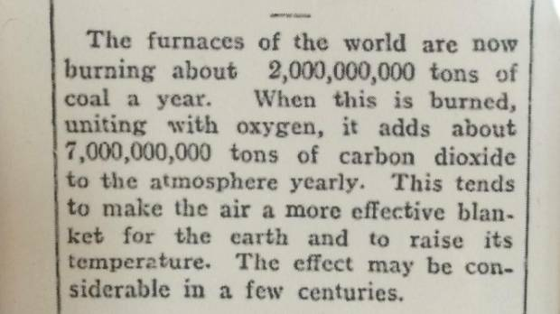 An early climate change story which ran in the Rodney and Otamatea Times in 1912 has caused a stir online.