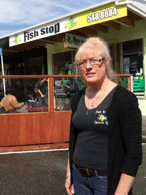 Jill Williams hopes to keep the outdoor dining area at her Alton St shop, Fish Stop.