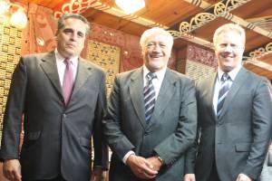 Mexican Ambassador Jose Traslosheros, Sir Toby Curtis, Todd McClay, Cuban Ambassador Mario Alzugaray and Argentinian ...