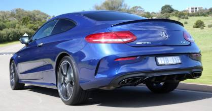 Coupe version not as muscular at the rear as C 63. But then the 63 doesn't have drive to all four wheels.