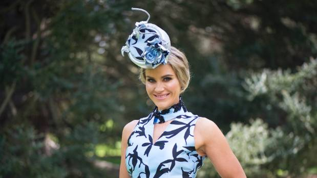 A stunning hat crowns off one of Katie Flett's raceday outfits.