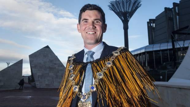 Wellington's new mayor Justin Lester says he is looking forward to getting on with the job now that the mayoral chains ...