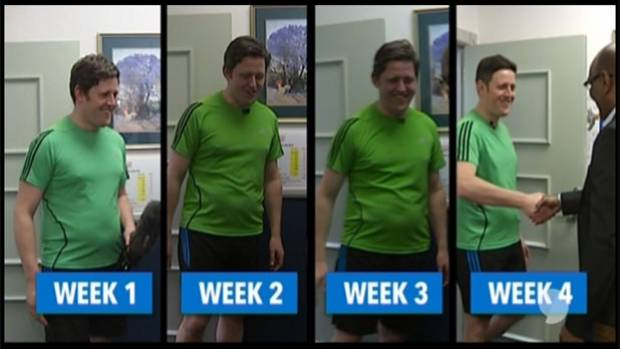 Lee's weight loss week by week.
