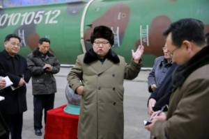North Korean leader Kim Jong Un meets scientists and technicians in the field of research into nuclear weapons in this ...