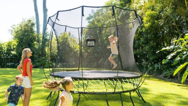 It is recommended that just one person at a time jump on trampolines, and that children be supervised at all times.