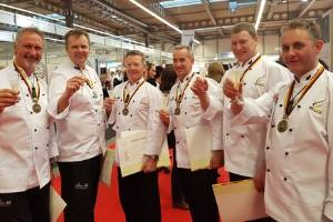The New Zealand chefs team, from left, Steve Le Corre, Mark Sycamore, John Kelleher, Darren Wright, Richard Hingston and ...