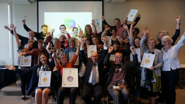 Winnters of the 2016 Queenstown Lakes District Trustpower Awards.