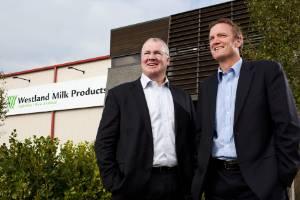 Westland Milk Products chairman Matt O'Regan and former CEO Rod Quin.