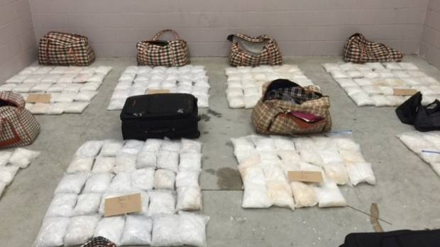 Northland Police in June 2016 seized 448kg of meth worth about $448 million in street value.