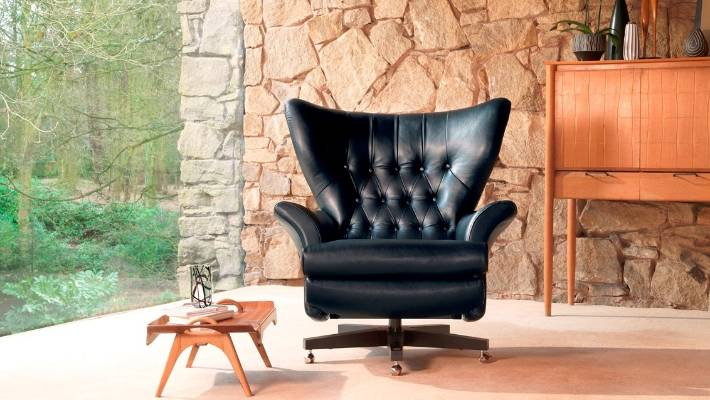 This G Plan Vintage chair from Karakter is titled The 62 and is shown here in Capri Black.