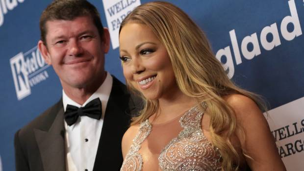 Mariah Carey and businessman James Packer in happier times