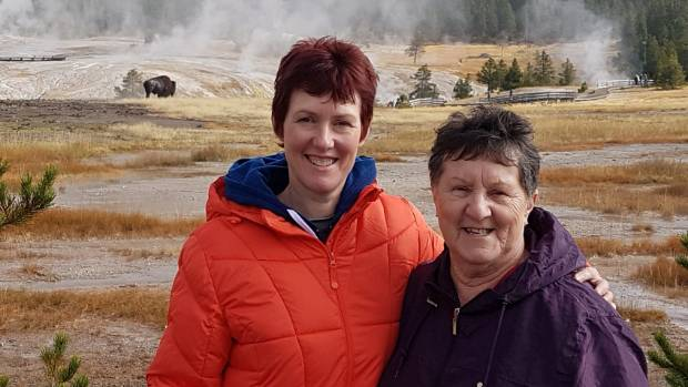 Leeanna with her mum Kath Rooney at Yellowstone  National Park, on their recent trip to the US.