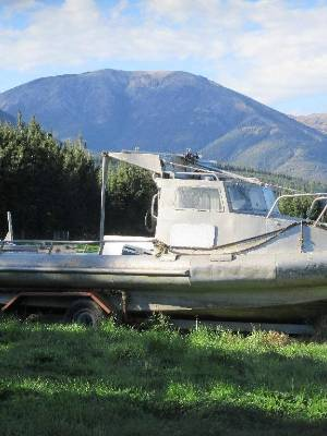 An 8m boat has been stolen from a property in Wairau Valley.