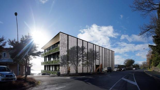Artist impression of the Te Arawa Lakes Trust building development on Lake Rd