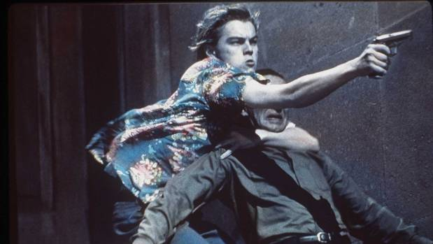 Leonardo Dicaprio in Baz Luhrmann's Romeo and Juliet (1996), one of Jackson's favourite screen adaptions.