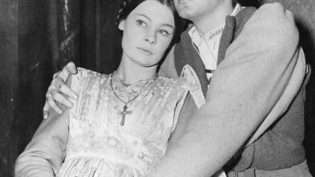 "Judi Dench and John Stride in ""Romeo and Juliet"" at London's Old Vic, 1960."
