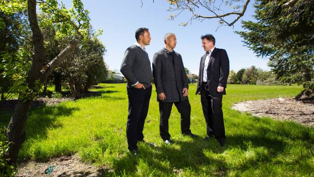 The new crew: Regenerate Christchurch managers, Chris Mene, Ivan Iafeta and Rob Kerr, in the red-zone.