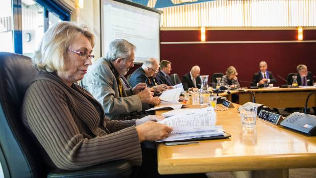 Councillors of the newly elected Tasman District Council get down to business.