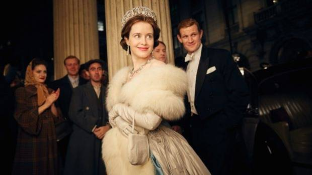 Queen Elizabeth II (Claire Foy) with Prince Philip (Matt Smith) in The Crown.