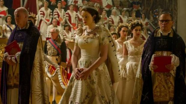 Queen Elizabeth's coronation in The Crown.
