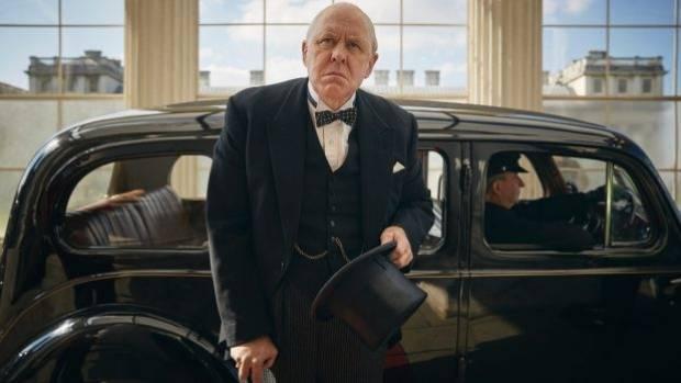 John Lithgow as Winston Churchill.