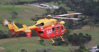 The Waikato Westpac Rescue Helicopter was called to the scene about 7pm.
