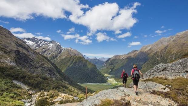 The South Island's Routeburn Track had a funding shortfall of around $375,000 in the year to March 2016.