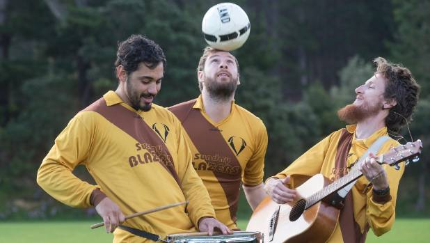 The Sunday Blazers Football club's team band, Cumbia Blazera, are fundraising to go to Colombia next April on a football ...