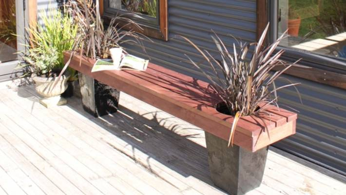Step By Instructions To Make A Garden Bench With Built