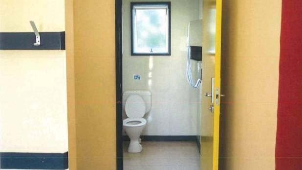 school bathroom door. The Taradale Primary School Toilet Room, From Which Aryan Banerjee Climbed Out Window. Bathroom Door
