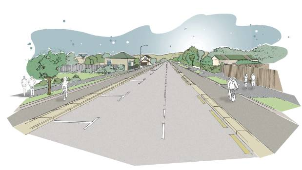 A concept image for the Quarryman's Trail cycleway in south Christchurch.