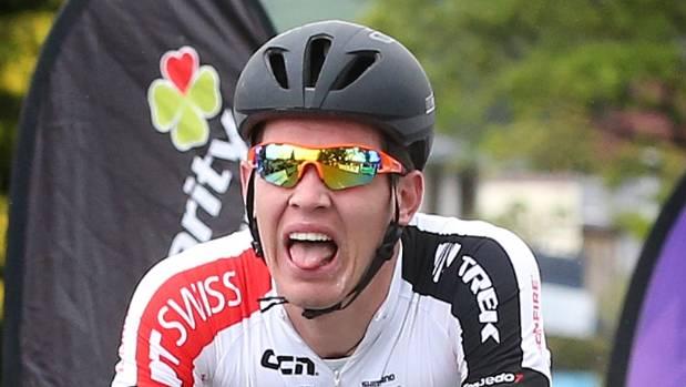 Rotorua's Sam Phibbs, of Team Skoda Racing, wins the 150km stage from Riverton to Te Anau on day three of the Tour of ...