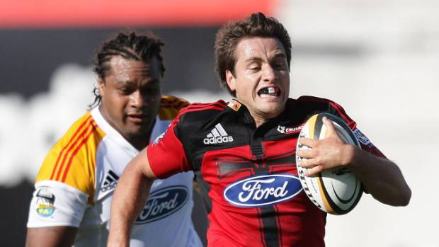 Tim Bateman scores a try during his first stint with the Crusaders, in 2009. He is returning to the franchise - a decade ...