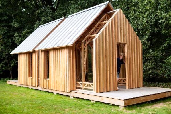 caspar schols clever design incorporates an outer timber layer and an inner glass layer he - Garden Sheds Nz