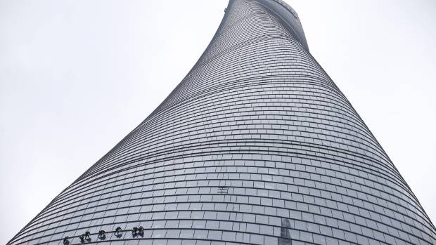 Elevators in the Shanghai Tower go down at 35.9 km/h.