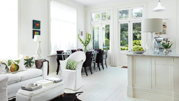 White Kitchen Nz my favourite space: an open plan, all-white kitchen | stuff.co.nz