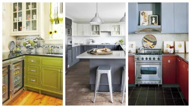 Painting the cabinets takes a bit of time and money, but totally changes the look of your kitchen. Try a two-tone ...