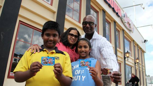 Don and Jane Govender with their children Sai (left) and McKenzie were excited to go to new White Cloud Spur in Albany.