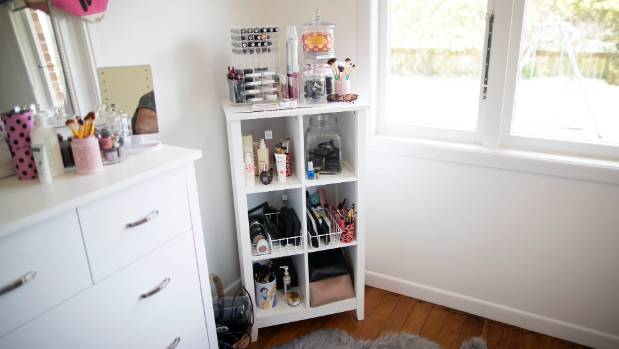Bella's make-up area, a place where she feels most relaxed.