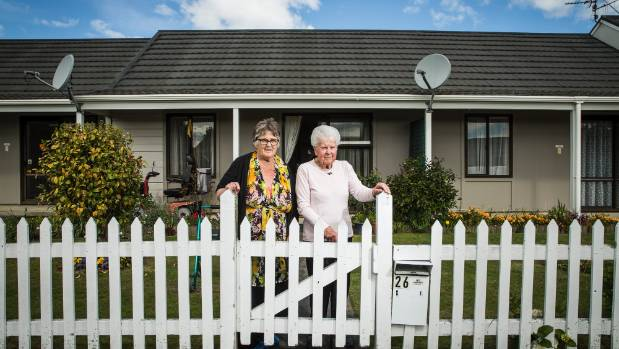 Maree Maurice and Joan Diehl were ordered to leave their retirement cottages at Omaio Village, Stoke last year to make ...