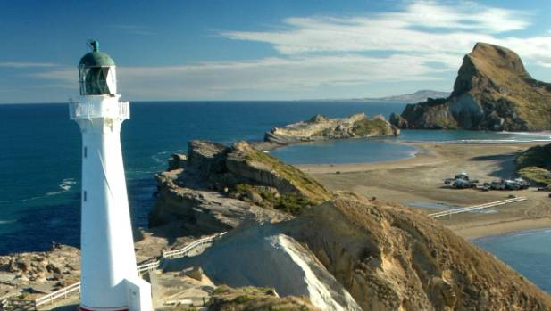 Castlepoint, Wairarapa. The Wairarapa is a also a hot spot for visitors.
