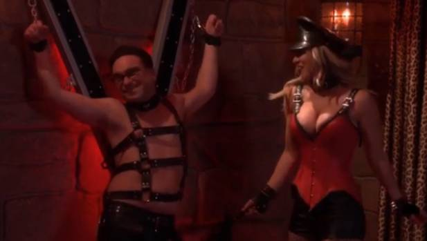In a dream sequence scene, Leonard and Penny have turned Sheldon's bedroom into a sex dungeon.