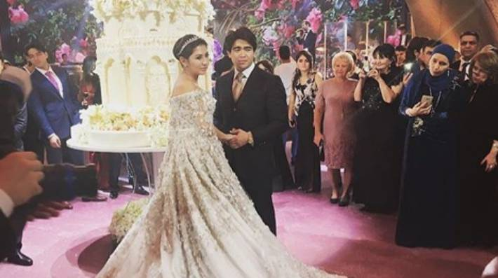f7680ae70 The daughter of Russian oil tycoon Ilkhom Shokirova tied the knot in Moscow in  a very