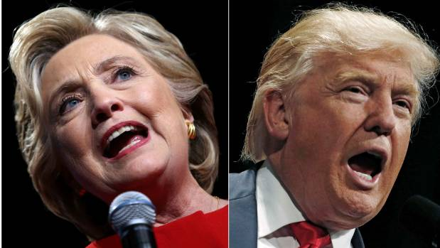 Americans are going to the polls to decided between US presidential candidates Hillary Clinton, left, and Donald Trump.