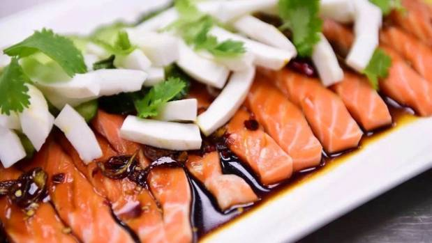 Hawaiin salmon poke, a marinated fish salad, is becoming increasingly popular world-over.