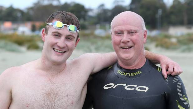 The first Timaru Ocean Swim in 20 years was won by Sam Naylor (left) with his father Rob Naylor coming third. Naylor ...