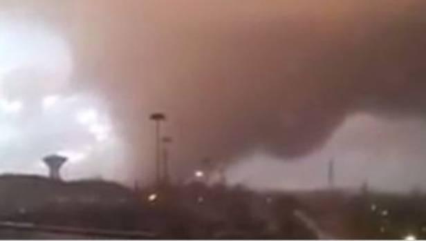 A powerful tornado moves across Italy.
